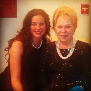 Joyce with Renatta Scotto after opening night.