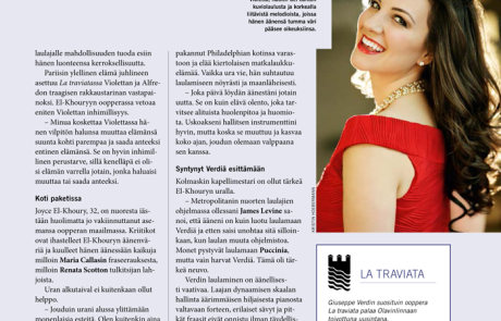 Joyce featured in Savonlinna Festival Magazine